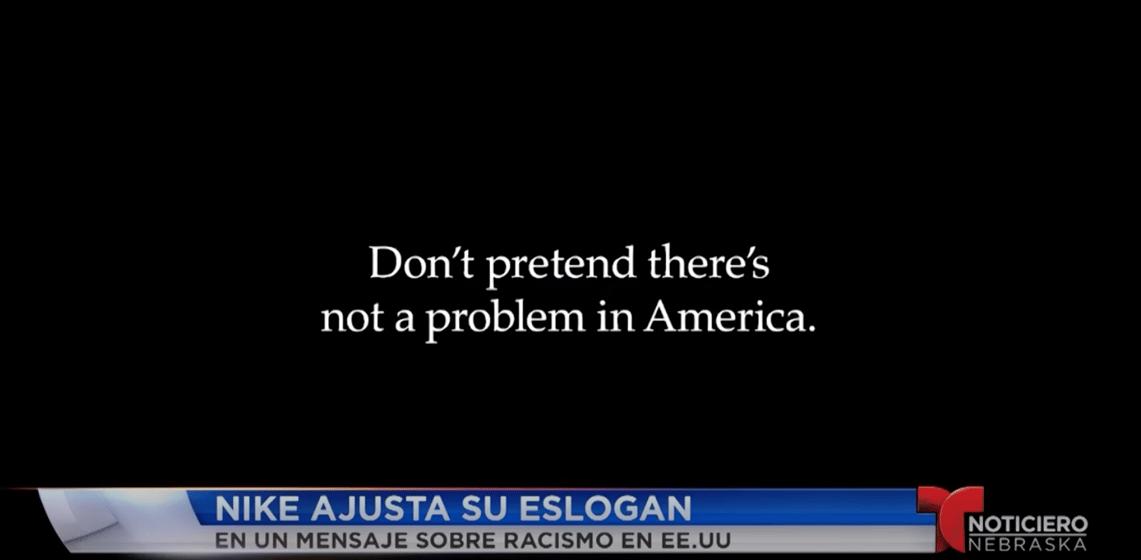 Litoral brillante aniversario  Nike ajusta su famoso eslogan en un mensaje sobre racismo en EE. -  Telemundo Nebraska